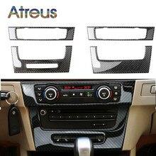 for BMW e90 Carbon Fiber Strip Air Conditioning CD Panel Decorative Cover Trim Auto Interior Accessories Car Styling 3D Sticker