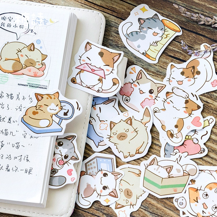 kawaii-be-my-cat-adesivi-decorativi-di-cancelleria-scrapbooking-diario-fai-da-te-album-stick-etichetta