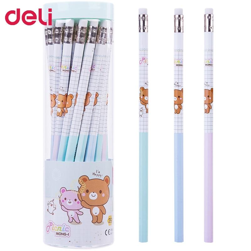 ¡Envío gratis! 90 Uds. De lápices kawaii rilakkuma, lápices con gomas de borrar para niños, lápices de dibujo para escribir 2B HB, artículos escolares