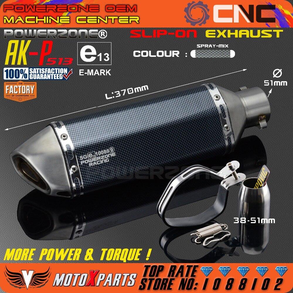 Modificado motocicleta AK-P513 tubo de escape silenciador universal para cb crb yzf ttr ktm exc sxf r6 ZX-6R ZX-10R gsxr scooter atv