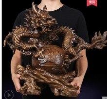 Il fiore è di grandi dimensioni in resina attira soldi drago artigianato ufficio arredamento Creativo decorazione della Casa Scultura Statua