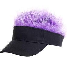BINGYUANHAOXUAN-chapeau de Baseball ajustable pour garçon fille   Perruque toupet, perruque de cheveux drôle perte de cheveux, casquettes de Golf Cool, casquette de camouflage