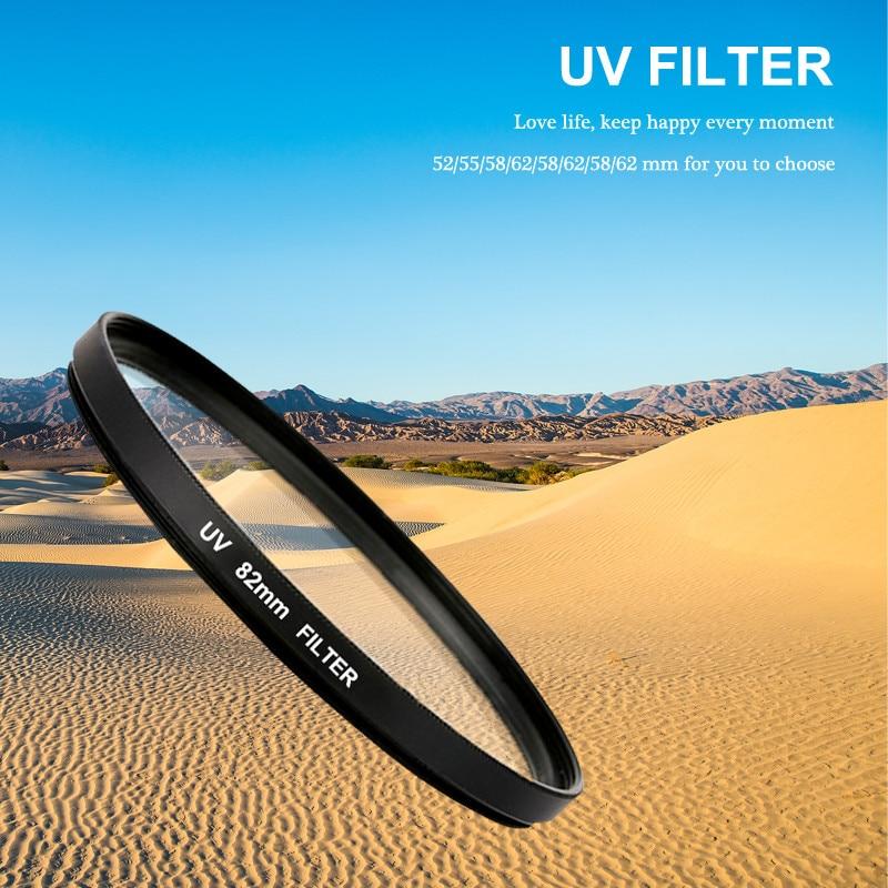 UV Filter 52/55/58/62/67/72/77/82mm UV Ultra-Violet Lens Filter Protector For Canon Nikon Sony Camera Accessories