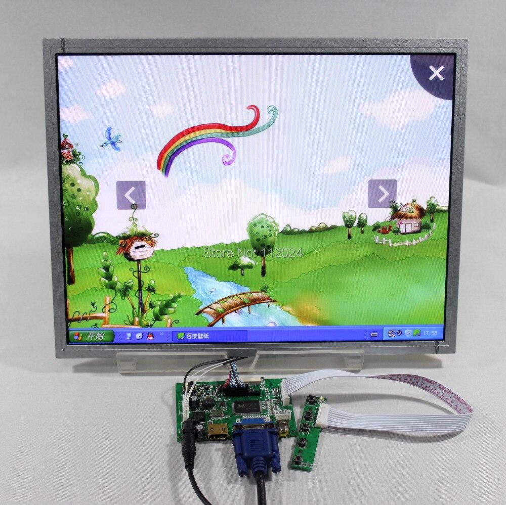 Placa controladora VS-TY2662-V1 do lcd de hd mi vga 2av com 15 polegadas ac150xa01 1024x768 painel lcd industrial