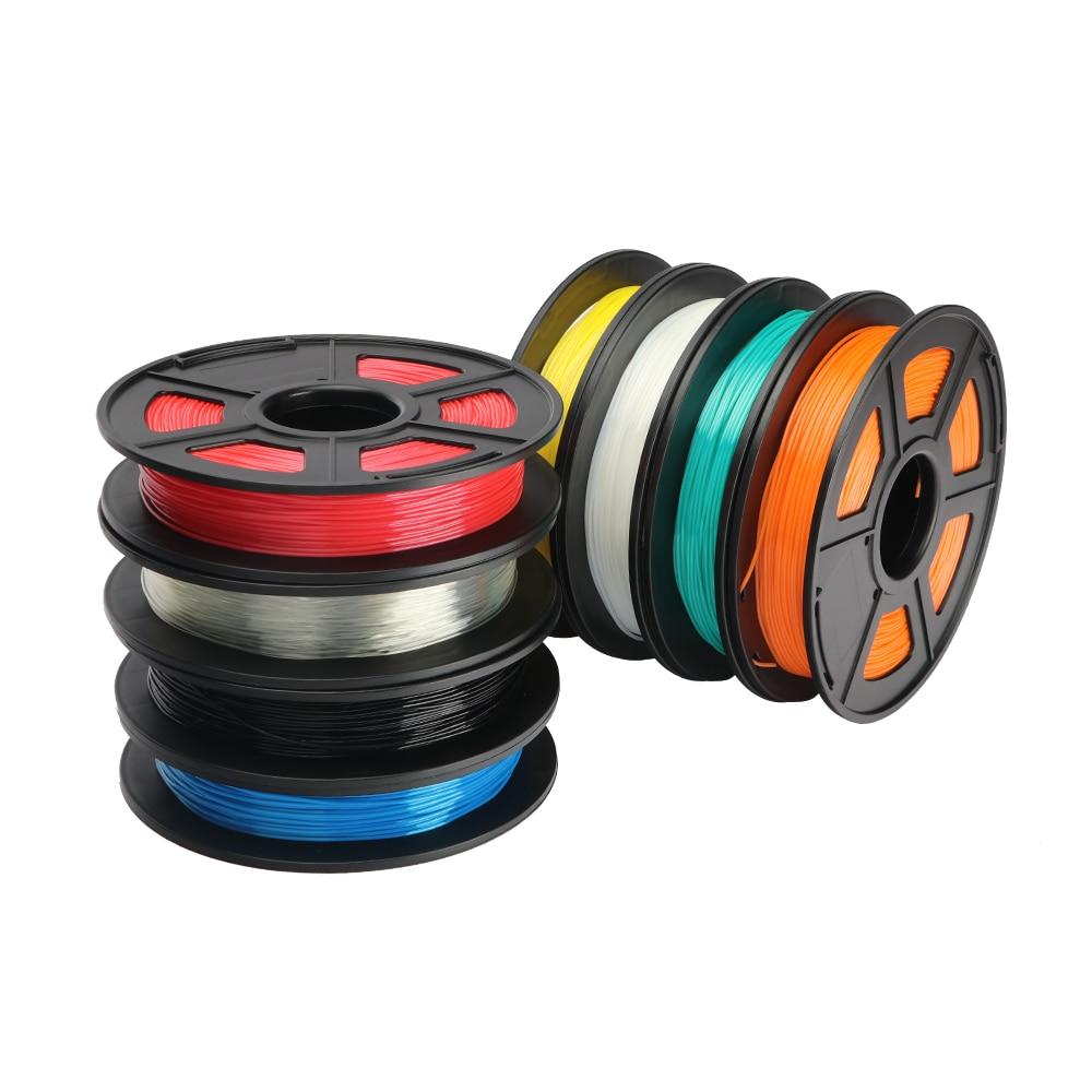 Material de borracha opcional dos materiais de consumo da cor do plástico flexível 500g/rolo 1.75mm do filamento de tpu da impressora 3d de anycúbico para a impressora 3d