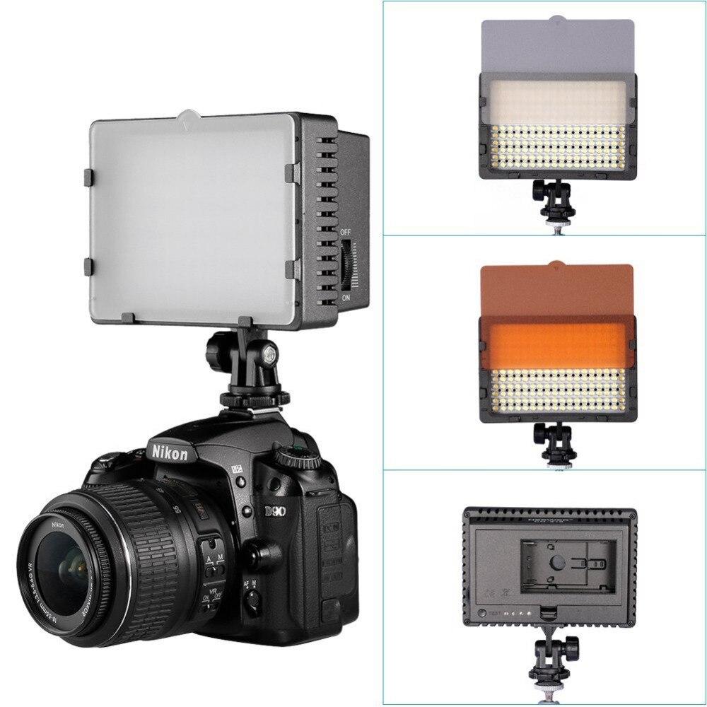 Neewer CN-216 pode ser escurecido ultra painel de alta potência câmera digital/filmadora luz vídeo led para canon nikon pentax panasonic