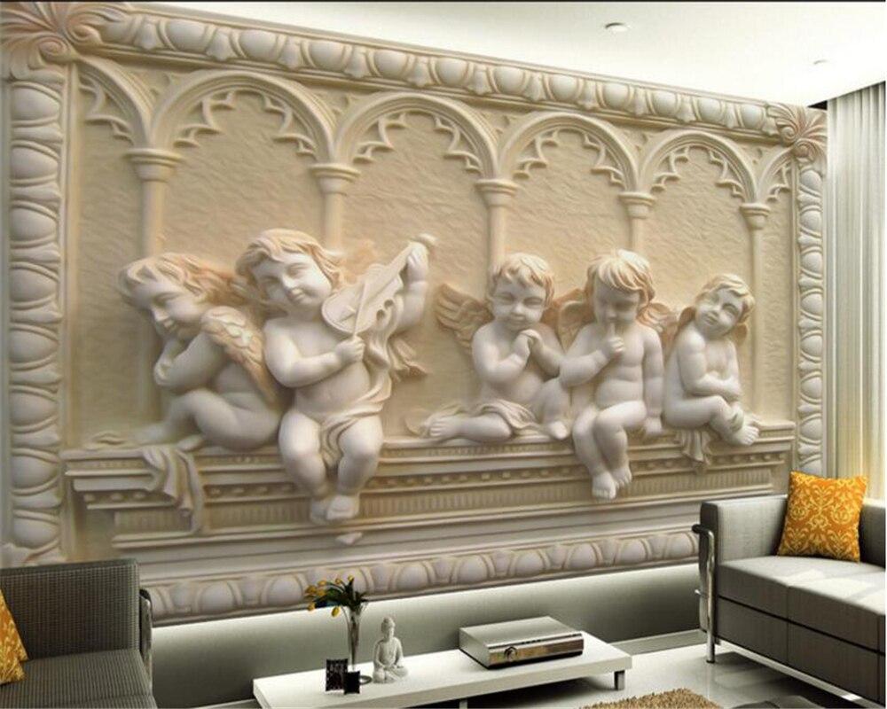 Papel pintado personalizado Beibehang, Mural en relieve estéreo europeo, diseño 3D, papel tapiz Mural de fondo de TV para dormitorio 3D para sala de estar