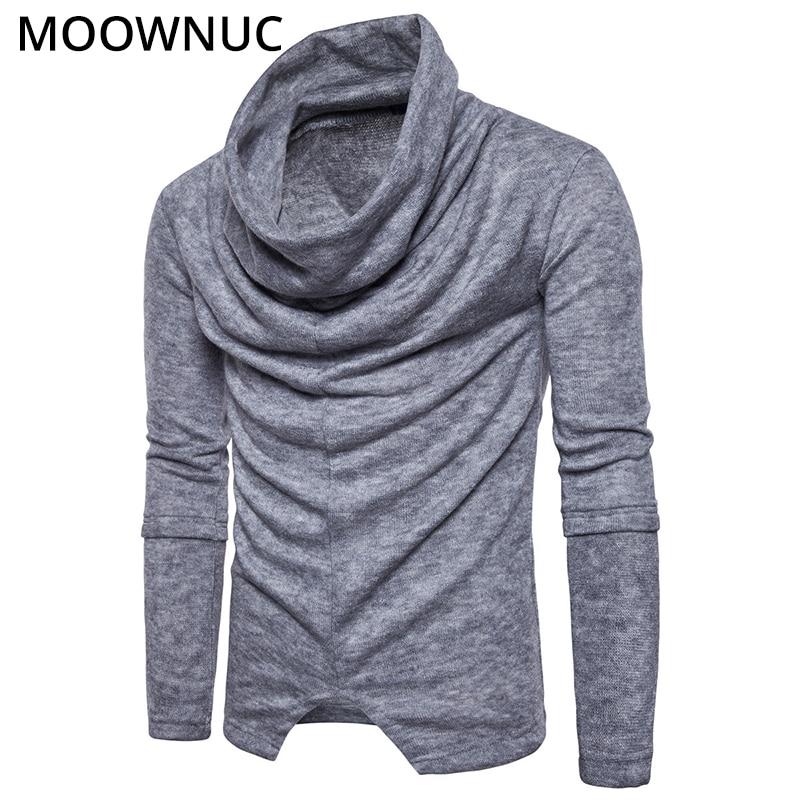 Suéteres de cuello alto, pulóver para hombre, moda sólida e inteligente, informal, camisa de bajo estrecho para hombre, jerséis Modish MOOWNUC MWC