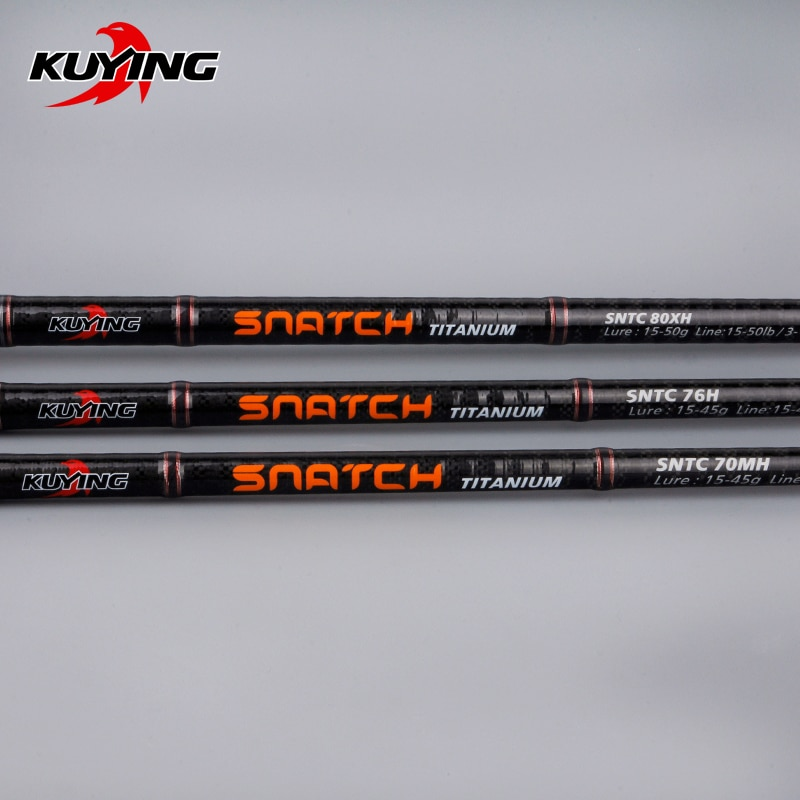 KUYING Snatch 2.1m 2.28m Casting Carbon Hard Fishing Rod Cane Stick FUJI Part Medium Fast Action For Snakehead 1.5 Sections enlarge