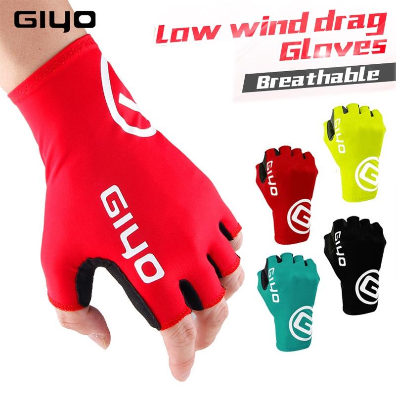 Giyo-Guantes de Ciclismo de medio dedo, de Gel para deportes de carreras,...