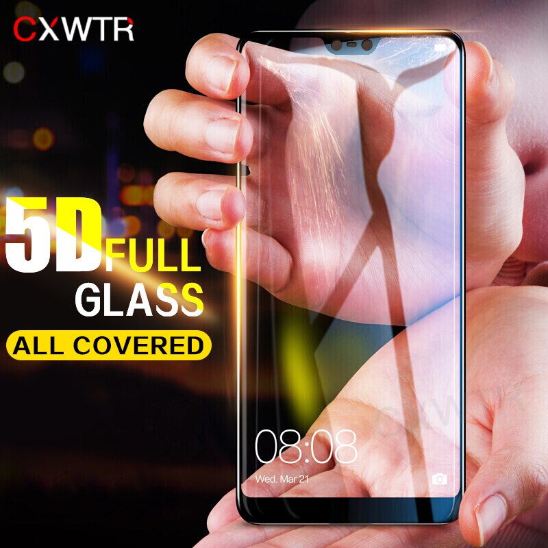5D cubierta completa de vidrio templado para Huawei P9 P10 Plus P20 Pro P9 Lite Protector de pantalla para Honor 9 Lite 10 Película de vidrio