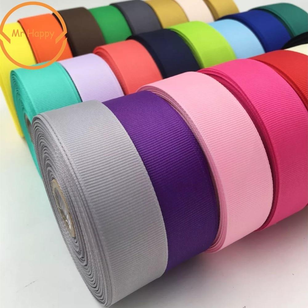 Полиэфирные простые ленты из корсажа 6/10/15/25/38 мм 5 ярдов/партия атласная лента для подарочной упаковки сделай сам бант для волос украшение для свадебной вечеринки