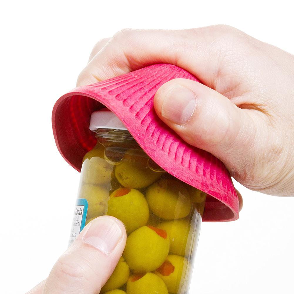 3 piezas de goma Manual antideslizante a prueba de agua, botellas de agarre redondas, tapa de tapa, almohadilla, tapa de botella, abridor de tarro de cocina, Kichen accesorios