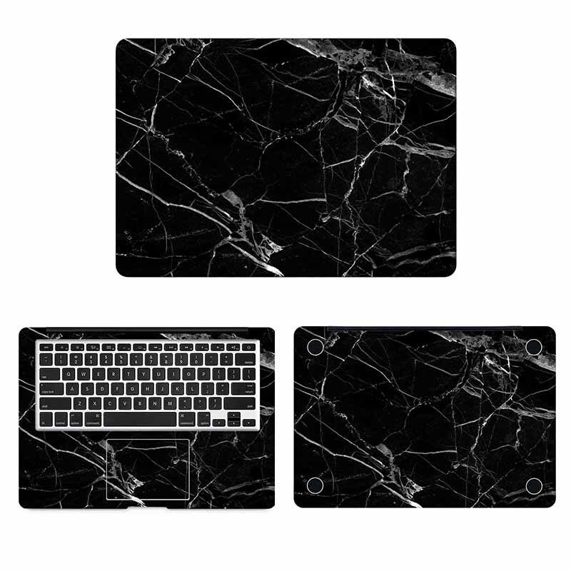 Funda de cuerpo entero de grano de mármol negro para Macbook Sticker Pro Air Retina 11 12 13 15 pulgadas HP Mac Mi pegatina de superficie de portátil