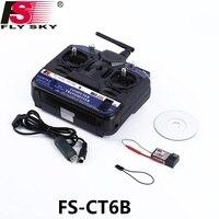 FlySky FS-CT6B FS CT6B 2.4G 6CH Radio RC System ( TX FS-CT6B + RX FS-R6B) RC 6CH Transmitter+6CH Receiver Ship w/ Color Box