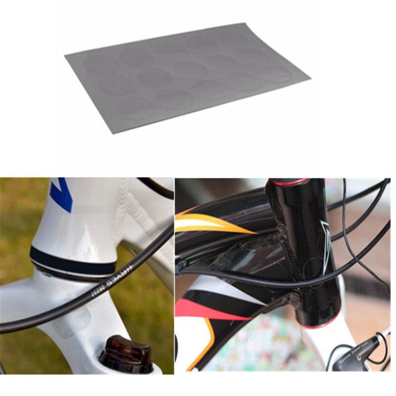 15 шт., анти царапины, 3 м лист, наклейки на велосипед, защита для мотоцикла, рамка, наклейка, прозрачная наклейка на велосипед, Аксессуары для в...