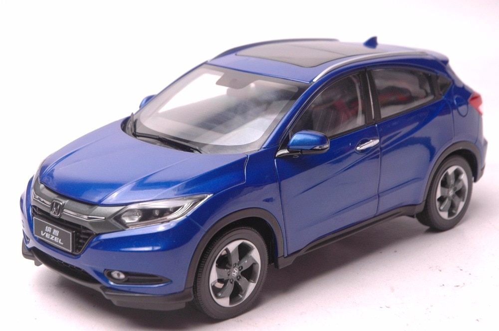 1:18 Diecast Model for Honda Vezel HR-V 2014 Blue SUV (Rashes on it) Alloy Toy Car Miniature Collection Gifts HRV HR V