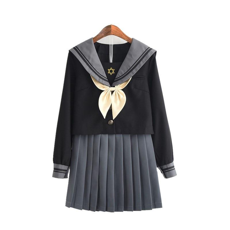 2021 New Sale Japanese  Jk Uniform Spring Academic Girl Summer Navy Sailor Suit Honor Student Cosplay Class Uniforms