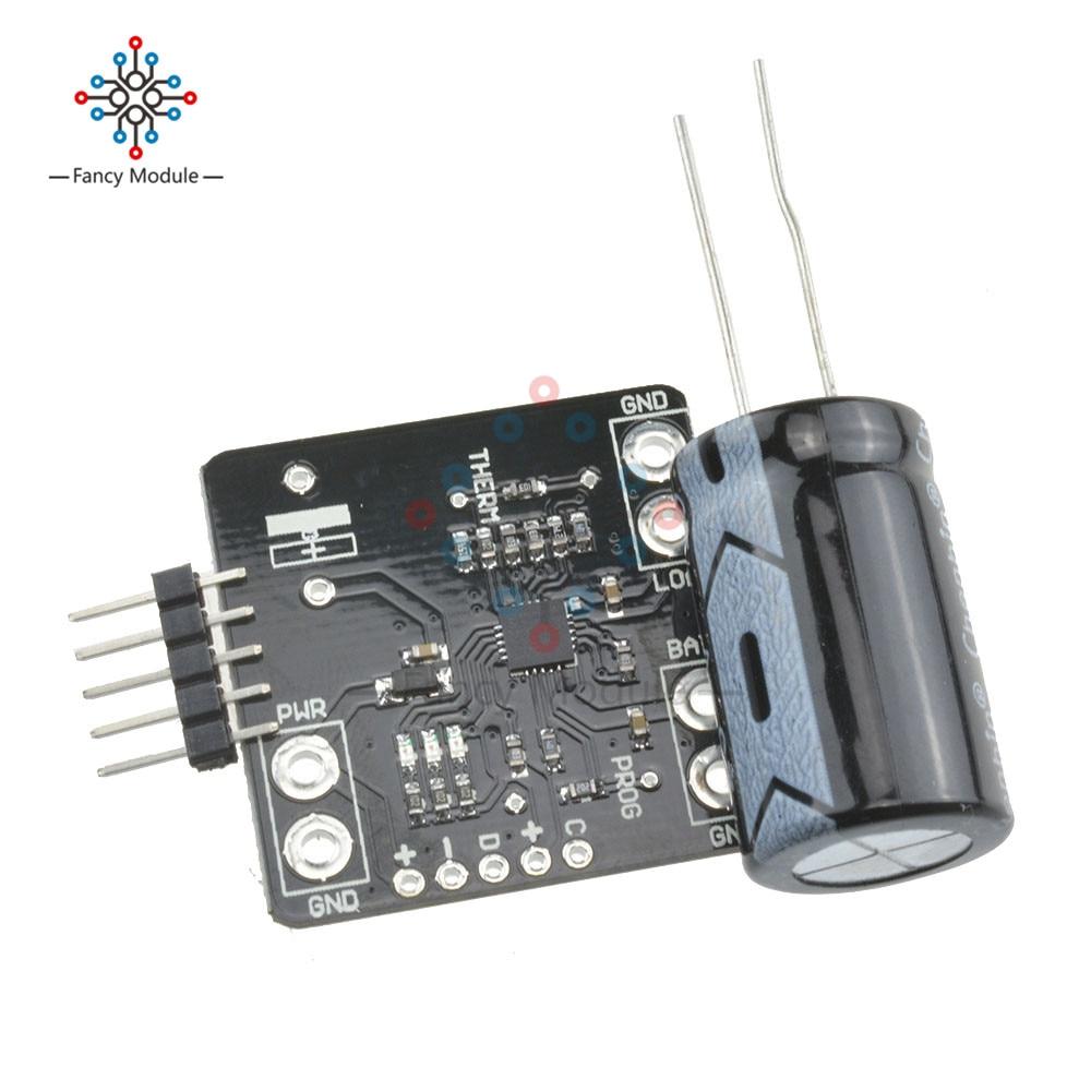 MCP73871 PowerBoost USB 5V DC Солнечная литий-полимерная плата для зарядного устройства 3,7 V/4,2 V модуль зарядного устройства батареи