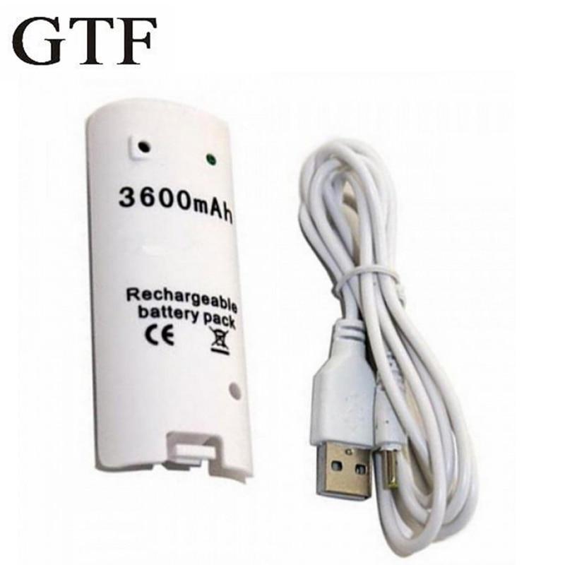 GTF-Batería de juego recargable de 3600mAh con Cable de carga para Nintendo...