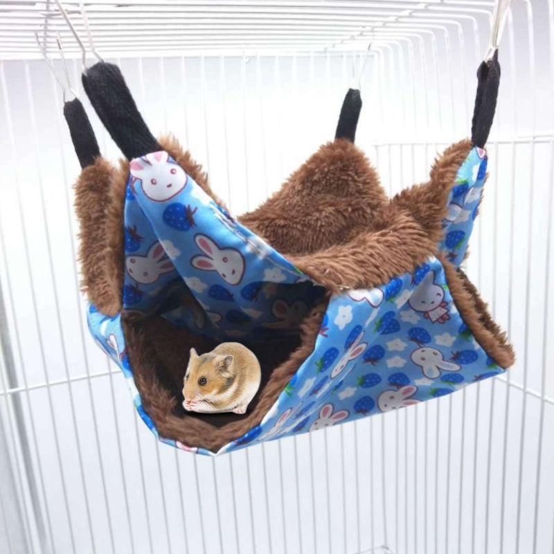 Viseča mreža za hišne ljubljenčke dvoslojna plišasta mehka zima - Izdelki za hišne ljubljenčke - Fotografija 2