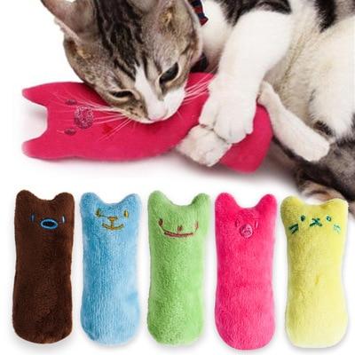 Juguetes de dientes de Catnip, juguete divertido de felpa interactivo para gatos, juguete para masticar de gatitos y mascotas, garras de juguete Vocal, menta para mascar para gatos, superventas