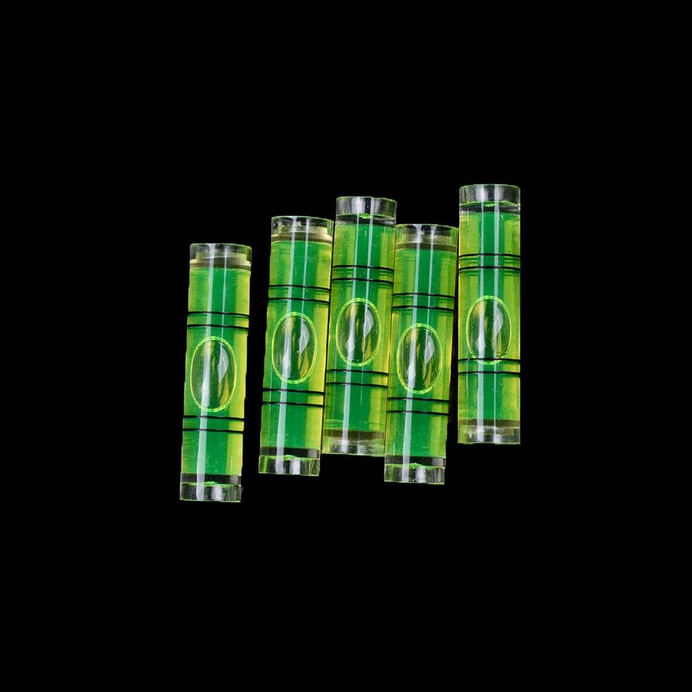 5 unids/lote, tamaño 9,5*40mm, nivel de burbuja DIY, Inclinómetro de Nivel de burbuja de alta precisión, indicador de nivel de líquido para brújula