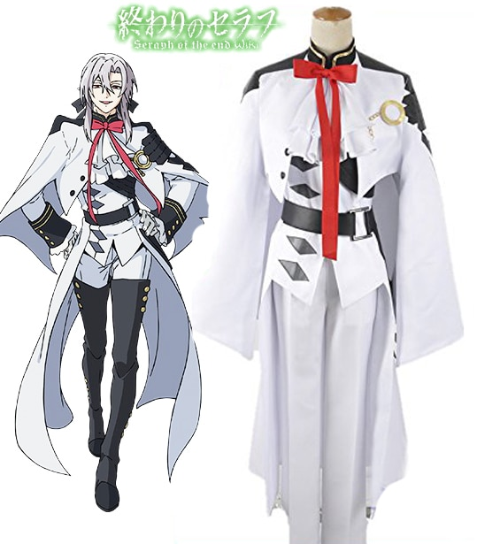 Seraph de la final Ferid Bathory vampiros Cosplay traje uniforme