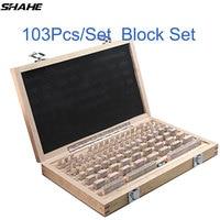 shahe 103Pcs/Set 1 grade 0 grade Inspection Block Gauge Test Caliper Blocks Measurement Instruments