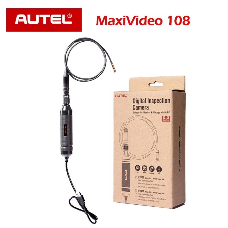 Цифровая камера autel MaxiVideo MV108 HD, камера для проверки видео MaxiSys Pro, ПК, диагностическая головка I 8,5 MS908 MS908P OBD2 EOBD