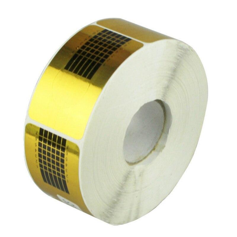 500 pcs/roll Nail Sticker para Extensões de Unhas de Gel UV Prego Formulário de Papel Bandeja de Extensão Dicas Da Arte do Prego