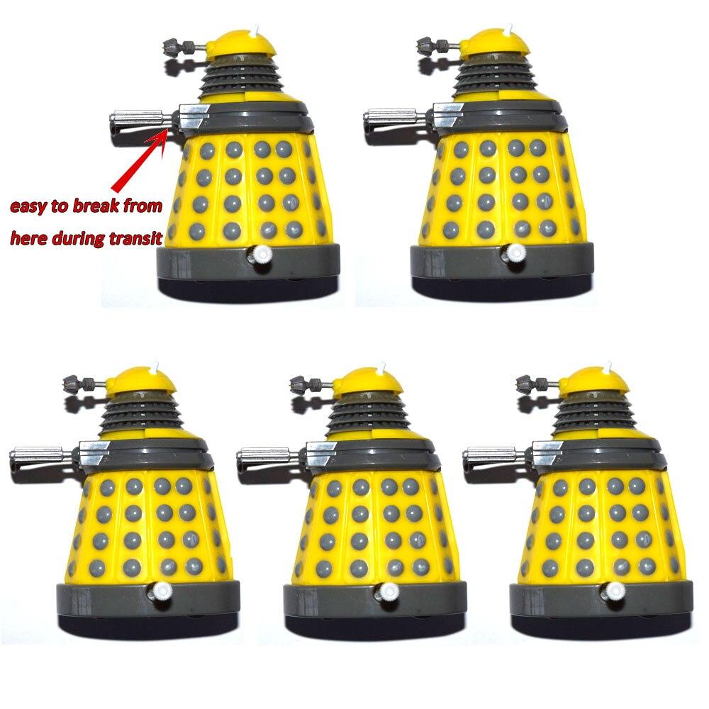 "Lote de 5 Dr. Wind Up Dalek Doctor Who Amarelo 3 ""Mini Solto Action Figure"