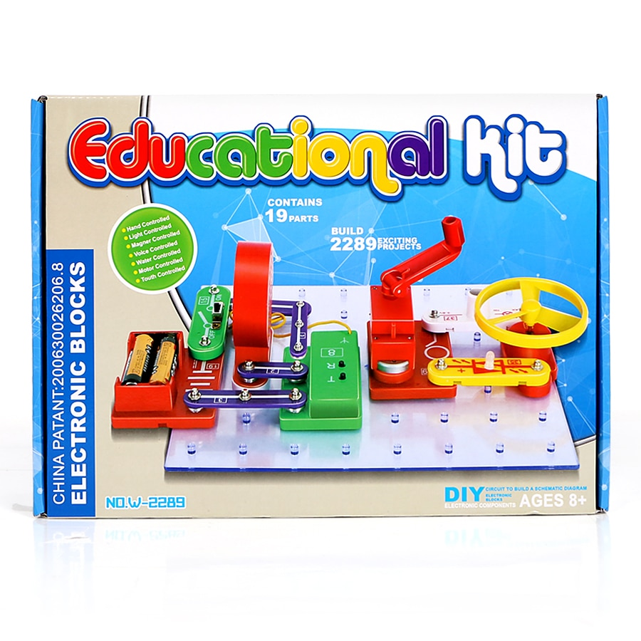Electronics Discovery Kit 2289 exciting projects Smart Science electronic kit for children education