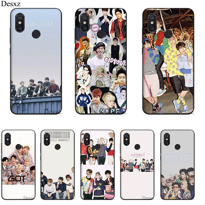 Phone Case For Xiaomi MiMAX3 6 8 9 10 SE A1 2 3 9T CC9 E Pro LiteSilicone Cover Got7 Korea Boy Band Girl Jackson Bag Shell