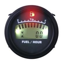Indicador de combustible LCD accionado DC para moto acuática Marina pit bike motorbike generador motor FM001