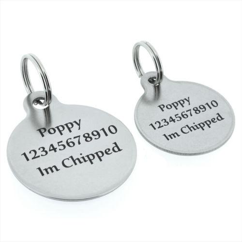علامة كلب دائرية الشكل, علامة كلب فارغة مخصصة رخيصة مع حلقة ، علامة كلب ليزر مخصصة عالية الجودة