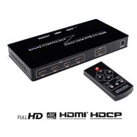 4K HDMI 4X1 Quad Multi-Viewer Switch con control remoto IR Switcher Splitter Compatible HDCP1.4 2160p / 1080P