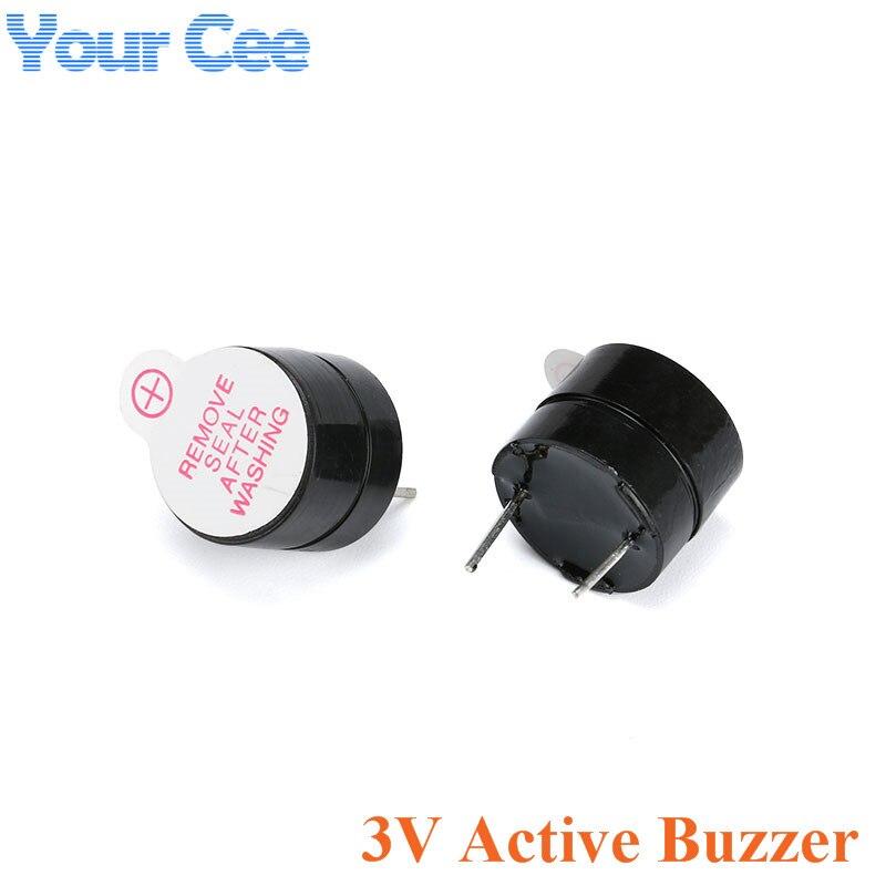 Altavoz sonoro electromagnético SOT, 10 Uds., 3V, alarma de zumbador activa