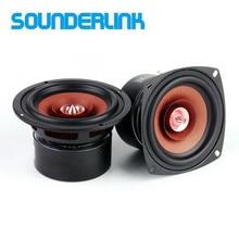 2 Stks/partij Sounderlink 4 Inch Full Range Monitor Bullet Speaker Hifi Woofer Tweeter Met Aluminium 2 Layer Kapton Kegel