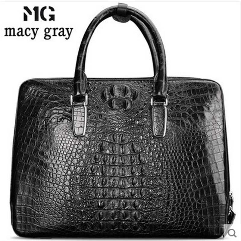 meixigelei new hot  men crocodile leather men handbag business male handbag  briefcase man crocodile skin men bag