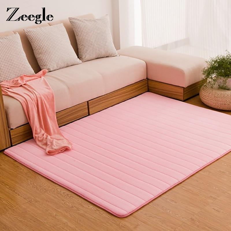 Zeegle Carpets For Living Room Memory Foam Carpet Rugs Non-slip Floor Mat Children Bedroom Foot Mat Home Decor Bathroom Door Mat