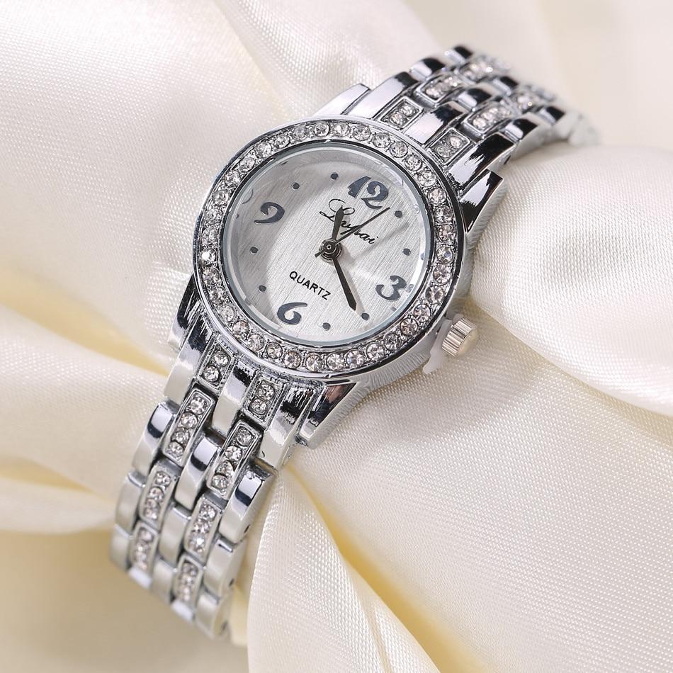 LVPAI 2020 New Fashion Rhinestone Watch Women Luxury Brand Bracelet Watch Ladies Quartz Dress Watch Women Clocks montre femme