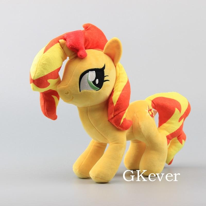 "Anime Cute Horses Sunset Shimmer Soft Plush Toy Dolls Stuffed Animals 12"" 30 CM Girl Gift"