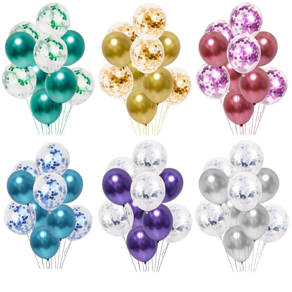 Globos para fiesta de boda QIFU, decoración para adultos, favores de boda, globos decorativos de látex, globos metálicos, accesorios
