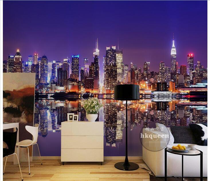 3d обои на заказ, фото, нетканое изображение, ночь, европейские города, 3d Настенные обои, настенное украшение для комнаты, живопись