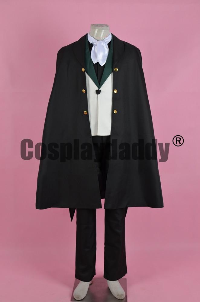 Disfraz de Cosplay de Bungou Bungo Stray Dogs, The Guild, Gwen Poe, uniforme de Anime F006
