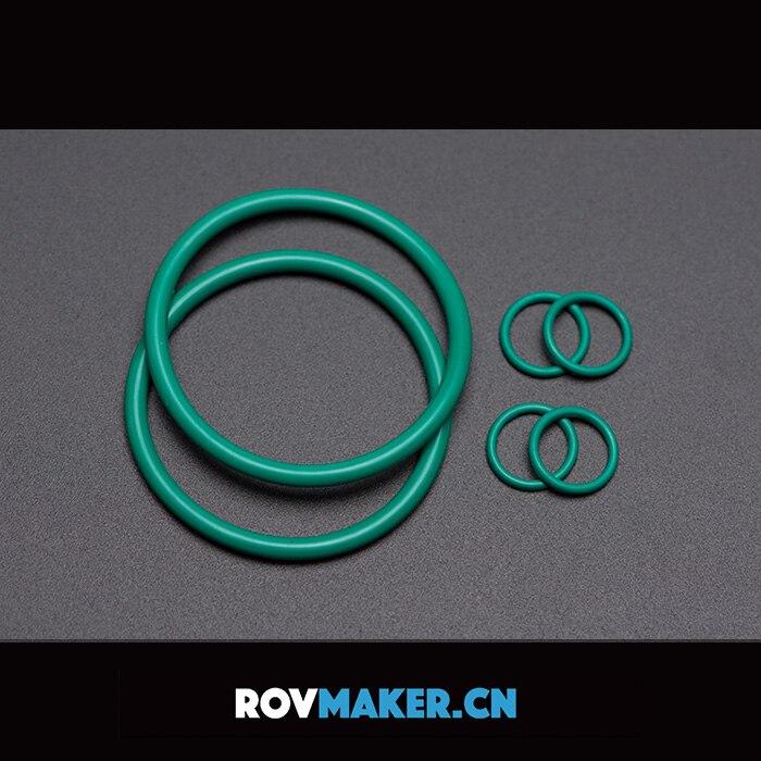 Cabina sellada ROVMAKER, Kits de reemplazo de junta tórica de goma de flúor impermeable, piezas de anillo de sellado para Robot submarino RC AUV