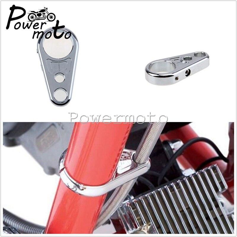 """Motocicleta 1 ''1 1/4"""" 25mm 32mm freno embrague alambre manillar con cable abrazadera Clip titular ajuste Motocross para Harley Cafe Racer"""