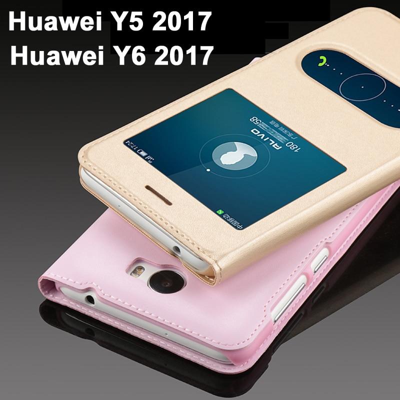 Funda GodGift Huawei Y5 2017 de lujo para Huawei Y6 2017, Funda de cuero PU con tapa para Huawei Y 6 2017