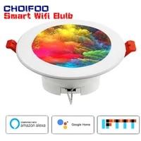 Spot lumineux LED rond et encastre  colore  avec controle WiFi  eclairage intelligent  RGBW  avec Google Home Assistant et Alexa